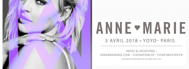 Anne-Marie en concert au YOYO le 3 avril