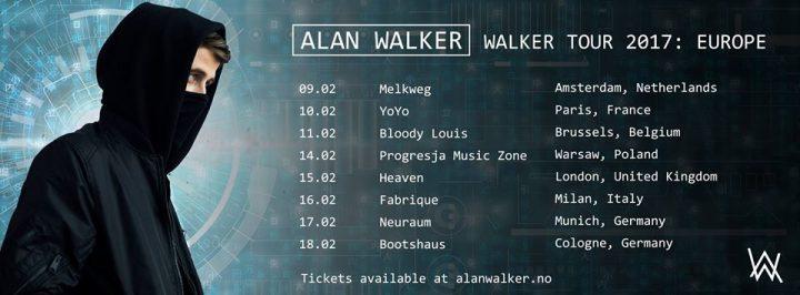 Alan Walker en concert au YoYo, le vendredi 10 Février 2016
