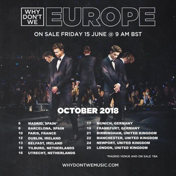 Why Don't We Europe – Paris